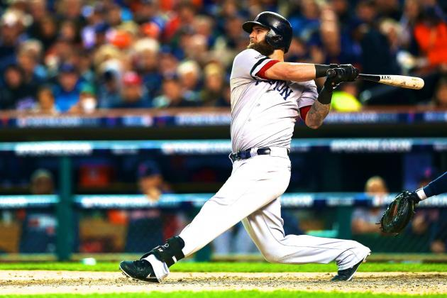 Watch Mike Napoli Hit 460-Foot Rocket for HR in ALCS Game 5