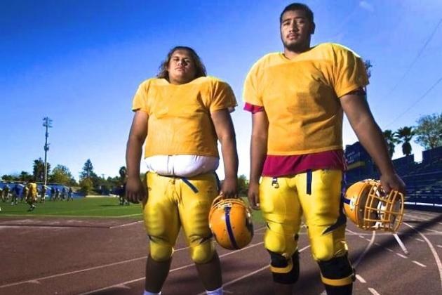 High School Offensive Line's Size Compares to College and NFL Teams