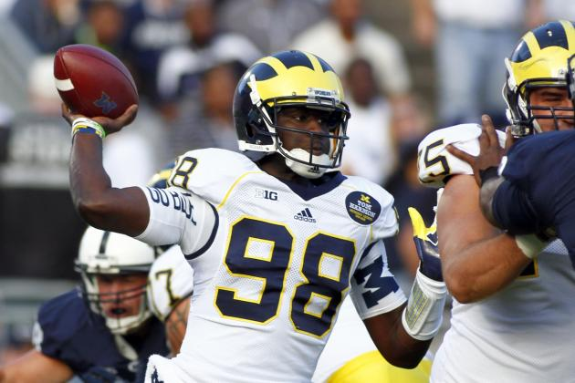 Michigan Football: Why WRs Need Devin Gardner to Stay in the Pocket