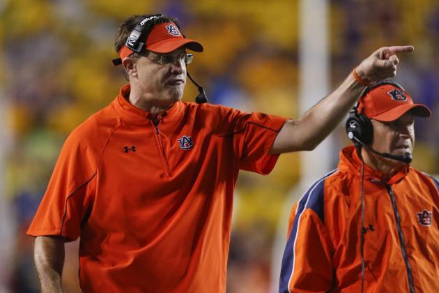 Auburn Head Coach Gus Malzahn Compares Johnny Manziel to Cam Newton