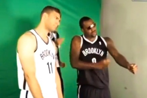 Brooklyn Nets Show Off 'Cookie Dance' Promo Video, Brook Lopez Looks Lost