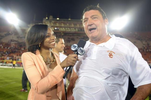 Notre Dame vs. USC: Can Ed Orgeron Coach on the Same Field as Brian Kelly?