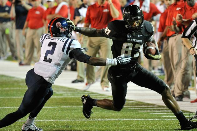 Vanderbilt's Jordan Matthews on Brink of SEC Receiving Record