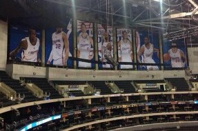 PHOTO: Clippers Will Cover Lakers Banner During Home Games