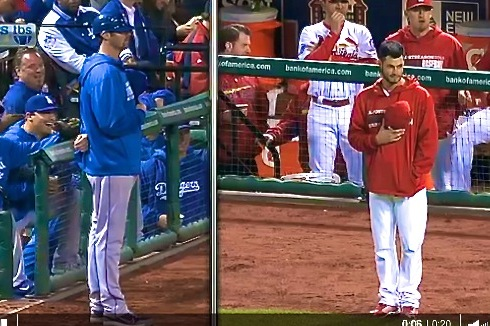 Dodgers vs. Cardinals Video: Watch Scott Van Slyke and Joe Kelly's Standoff