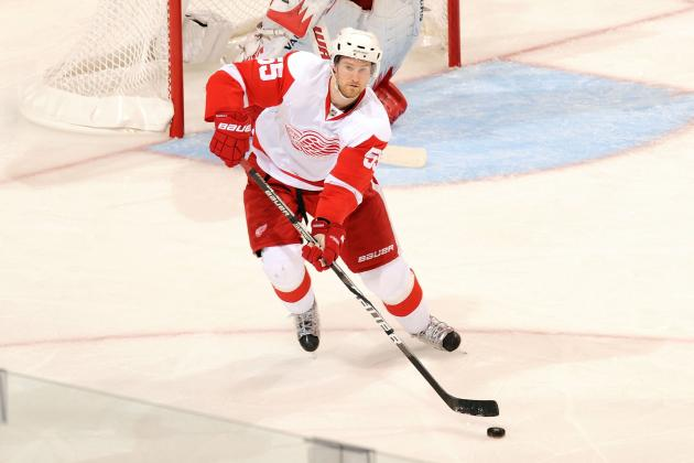 Red Wings' Kronwall 'Day-to-Day' with Mild Concussion