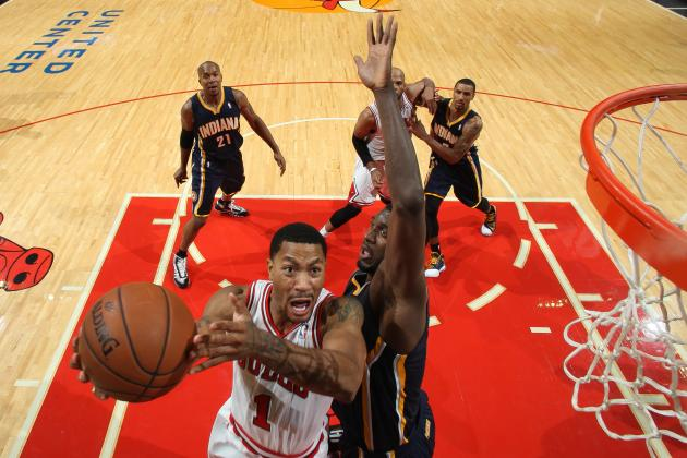 Rose Scores 32 in Bulls' 103-98 Victory