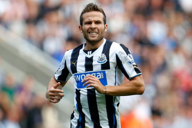 GIF: Yohan Cabaye's Long-Range Strike for Newcastle United vs. Liverpool