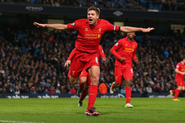 Steven Gerrard Scores 100th Premier League Goal vs. Newcastle United