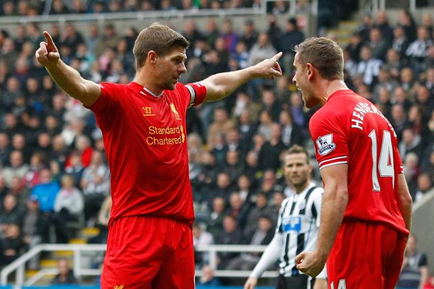 Liverpool's Steven Gerrard Converts Penalty for 100th Premier League Goal (GIF)