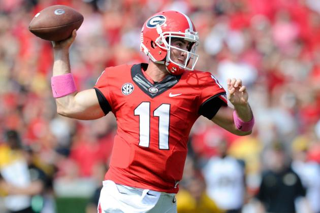 Georgia QB Aaron Murray Passes Tim Tebow for SEC Record of Total Offense