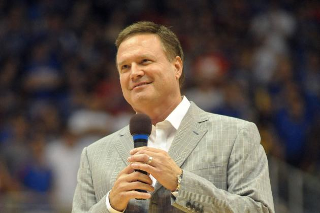 Bill Self Gets Creative with Jahlil Okafor and Tyus Jones on Campus