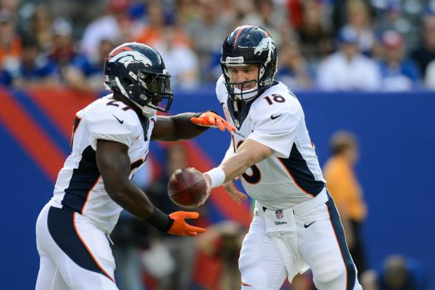 Peyton Manning Must Rely on Running Game in Order to Have Success vs. Colts