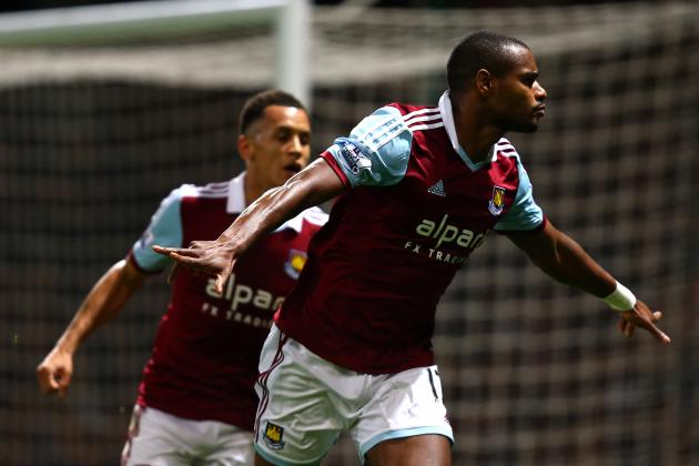 GIF: Ricardo Vaz Te Scores Stunning Overhead Kick for West Ham vs. Man City