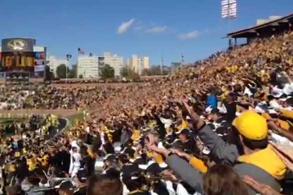 Video: Missouri Students Mock Gator Chomp in Stands During 36-17 Win
