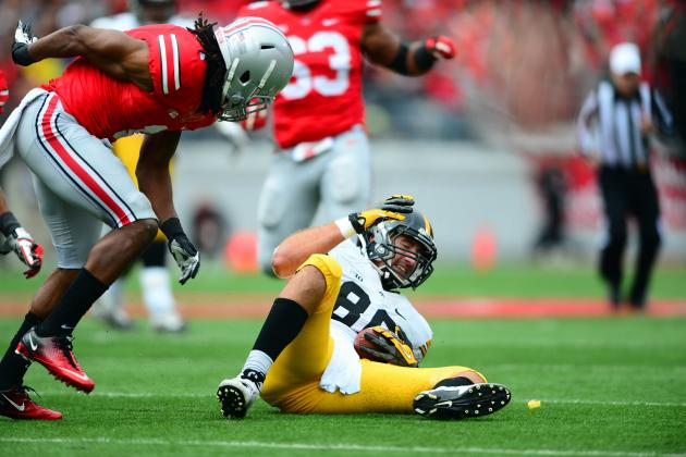 Ohio State CB Bradley Roby Ejected for Targeting vs. Iowa