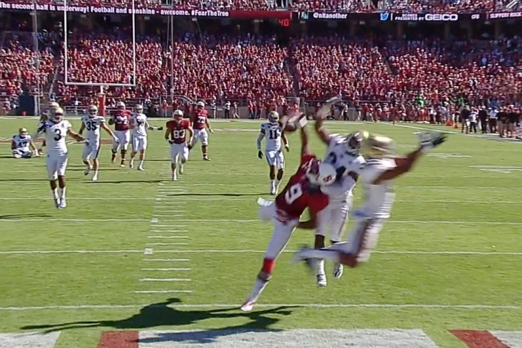 Stanford WR Hauls in Filthy One-Handed TD Catch Against UCLA