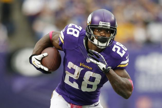 Adrian Peterson Is a Must-Start Against New York Giants After Shaky Week