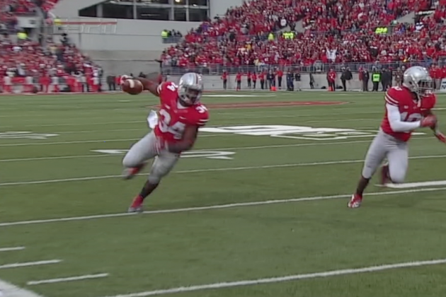 Ohio State RB Carlos Hyde Dazzles on 19-Yard TD Run