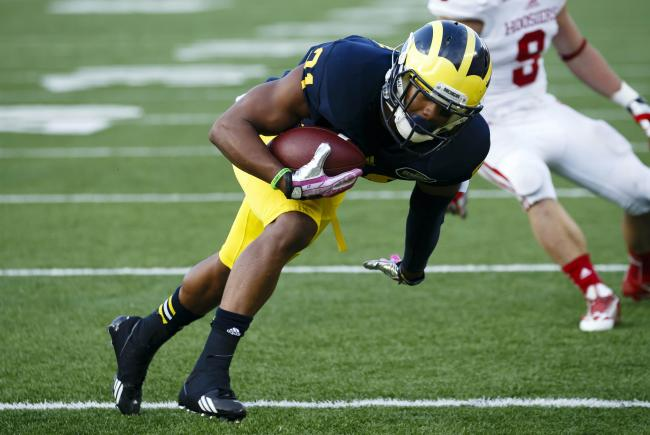 Michigan's Jeremy Gallon is going off right now.