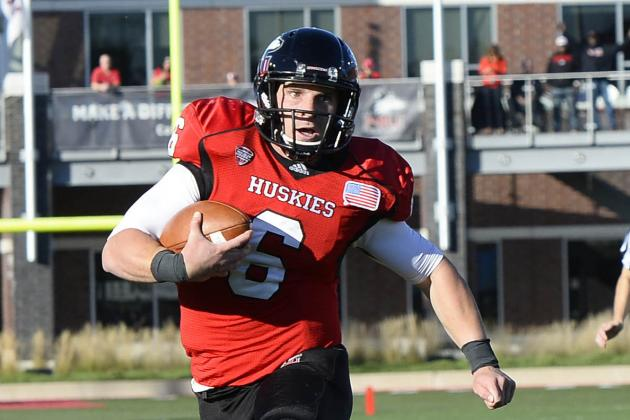 Northern Illinois' Jordan Lynch Breaks FBS Single-Game QB Rushing Record