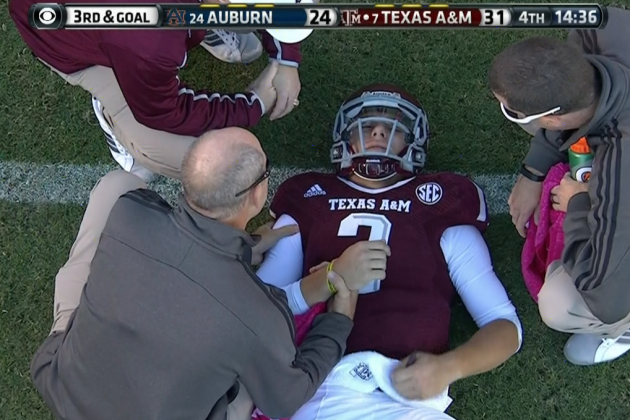 Here's the Play That Johnny Manziel Injured His Shoulder on Against Auburn