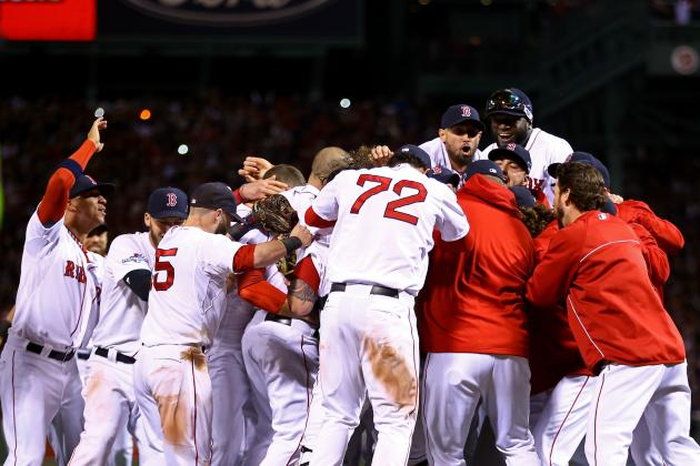 Video, Twitter Reaction to Boston Red Sox Celebrating World Series Trip