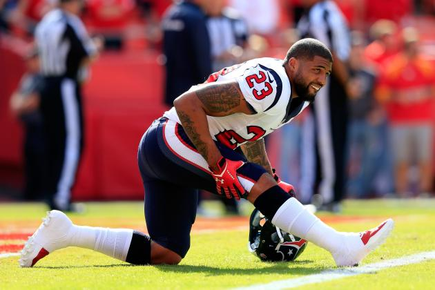 Arian Foster Questionable to Return vs. Chiefs Due to Hamstring Injury