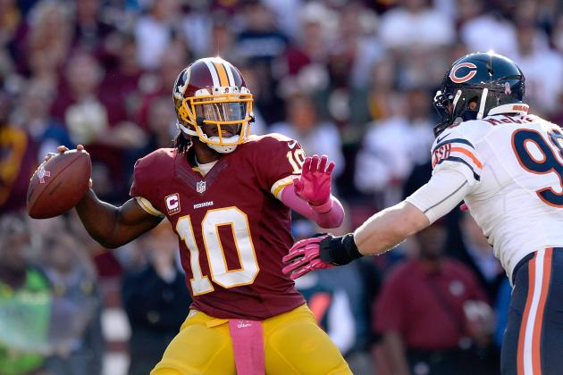 Robert Griffin III Shows Knee Is Just Fine in Win over Bears