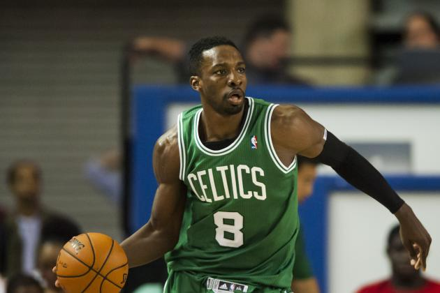 Celtics Jeff Green Swats Corey Brewer Lay-Up Attempt