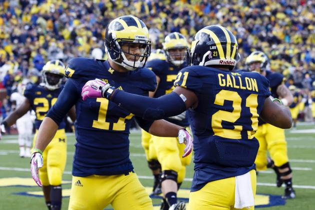 Michigan WR Jeremy Gallon Highlights Big Ten Football's Players of the Week