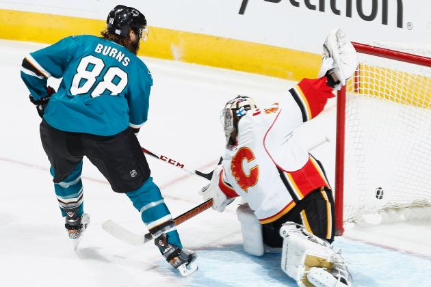 San Jose's Burns (Hit in the Gums) Out Tonight vs. Detroit