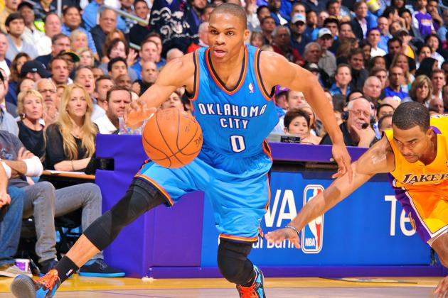 Russell Westbrook Returns to Thunder Practice for First Time Since Knee Surgery