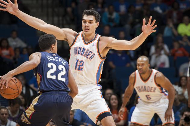 What Steven Adams Must Do to Emerge as Surprise Rookie of 2013 Class