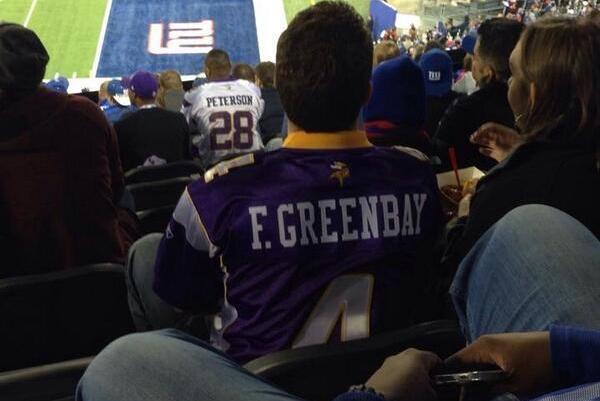Minnesota Vikings Fan Has Unique Brett Favre Jersey