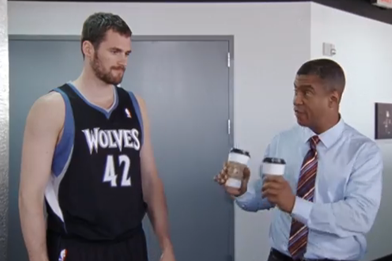 Watch: Kevin Love Amps Up Sportscenter Crew in Latest Ad