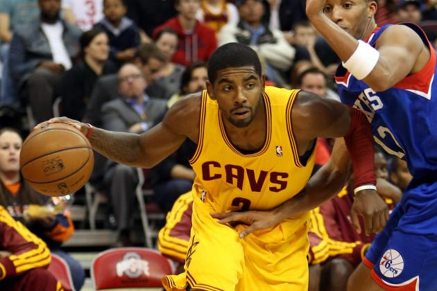 Watch: Kyrie Crosses Up Michael Carter-Williams, Evan Turner on Same Play