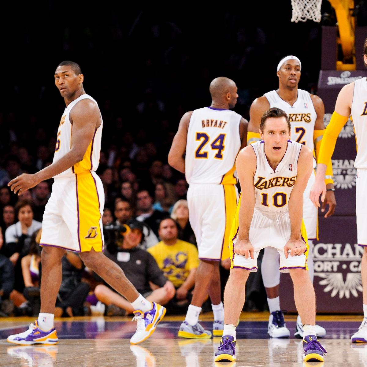 Comparing LA Lakers' 2013-14 Opening Day Roster Vs. Start