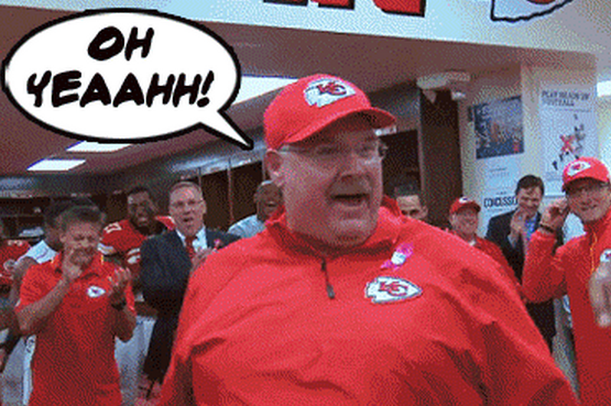 I Genuinely Can't Stop Watching Andy Reid as the Kool-Aid Man