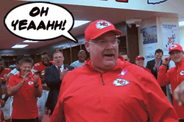 This GIF of Andy Reid as the Kool-Aid Guy Is Entrancing