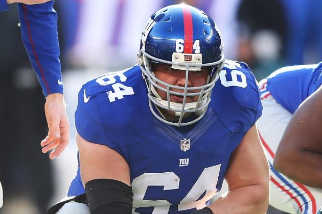 Giants Injury Report: David Baas Hurt Again