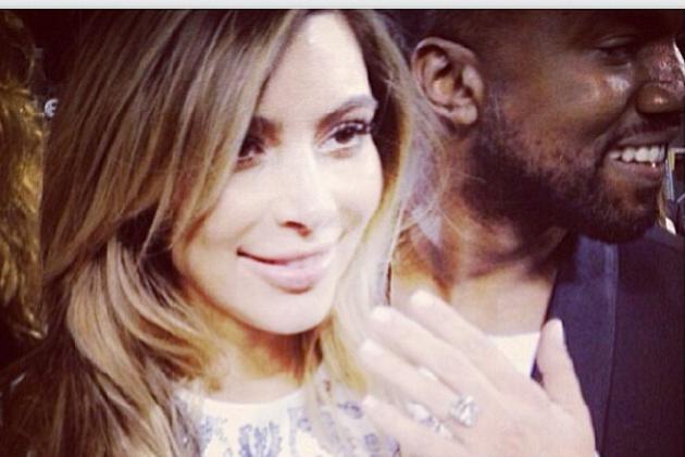Kanye West Proposes to Kim Kardashian at AT&T Park in San Francisco