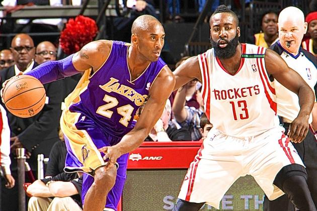 NBA General Managers Pick James Harden over Kobe Bryant as Best Shooting Guard