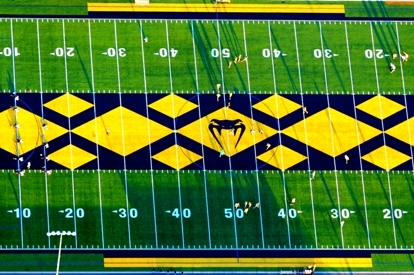High School Football Team Has Snake-Themed Field