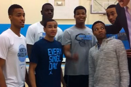 Video: UNC Basketball Team Goes a Cappella to Promote 'Late Night with Roy'