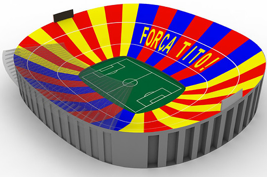 FC Barcelona to Display 98,000-Piece Mosaic for Tito Vilanova at El Clasico