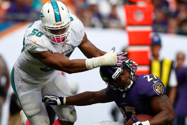 Dolphins DE Vernon Surprising Team Sack Leader