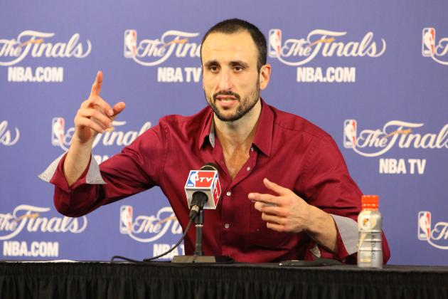 Manu Ginobili Serves as Translator for San Antonio Spurs Teammates