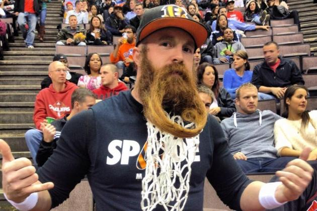 Bearded Bengals Fan Turns His Facial Hair into a Beautiful Basketball Hoop