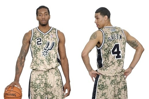 San Antonio Spurs Unveil New Military-Inspired Camo Uniforms